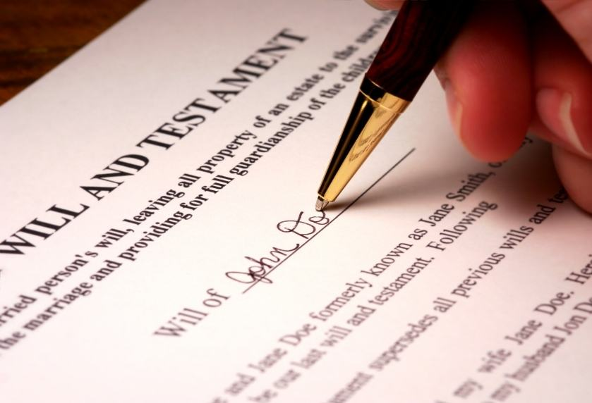 Legal Document Being Signed for Protection of Estate Property